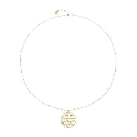 Liz Claiborne 32 Inch Cable Pendant Necklace, One Size , Yellow