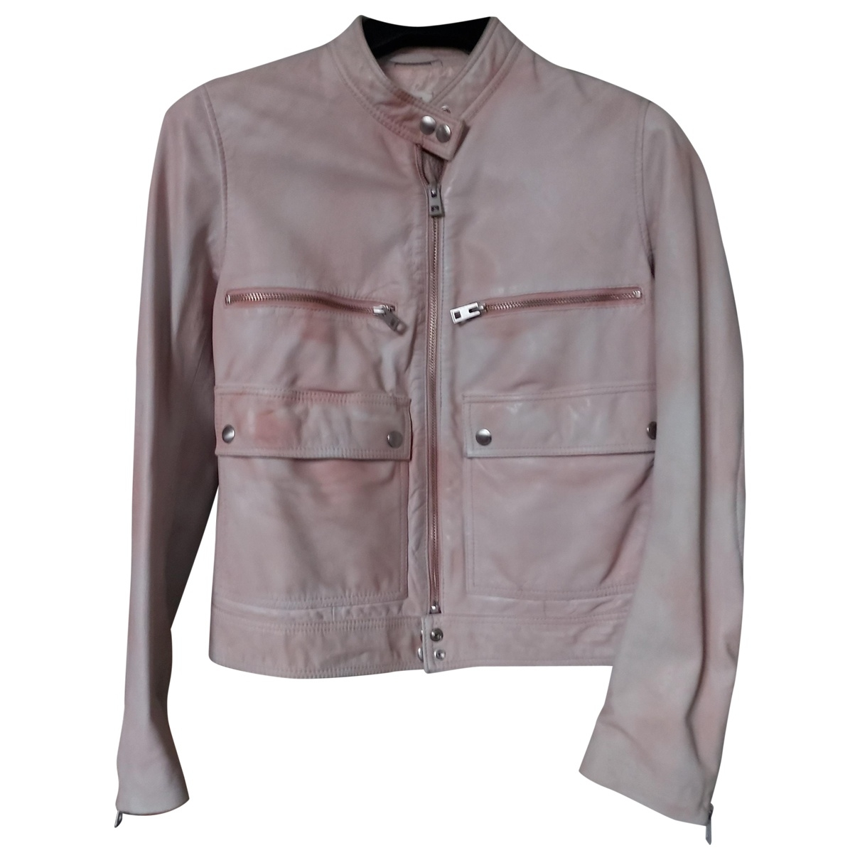 Zadig & Voltaire Spring Summer 2019 Pink Leather Leather jacket for Women 38 FR