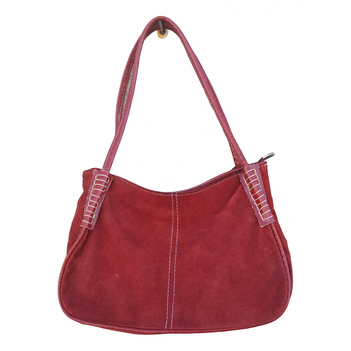 Non Signé / Unsigned \N Red Suede handbag for Women \N