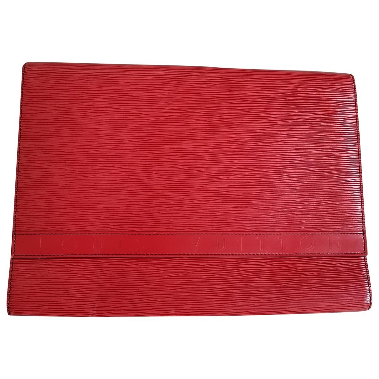 Louis Vuitton - Pochette   pour femme en cuir - rouge