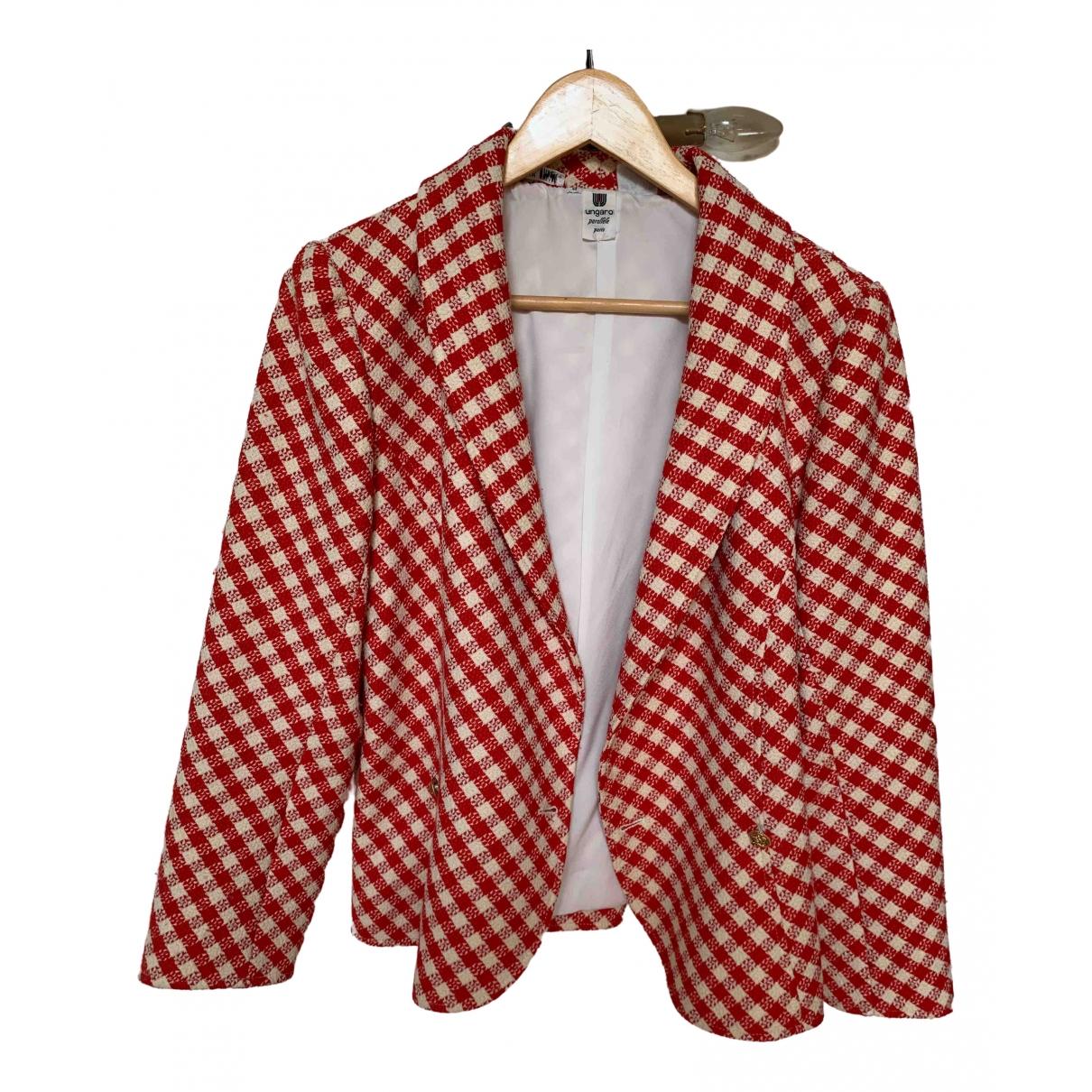 Ungaro Parallele \N Jacke in  Rot Baumwolle