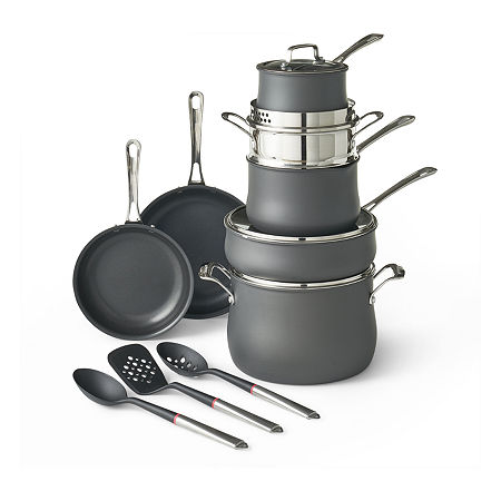 Cuisinart Contour 14-pc. Cookware Set with Tools, One Size , Black