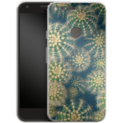 Google Pixel XL Silikon Handyhuelle - Kingwood Cactus von Joy StClaire