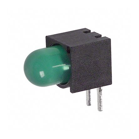 Dialight 550-2205F, Green Right Angle PCB LED Indicator 5mm (T-1 3/4), Through Hole (50)