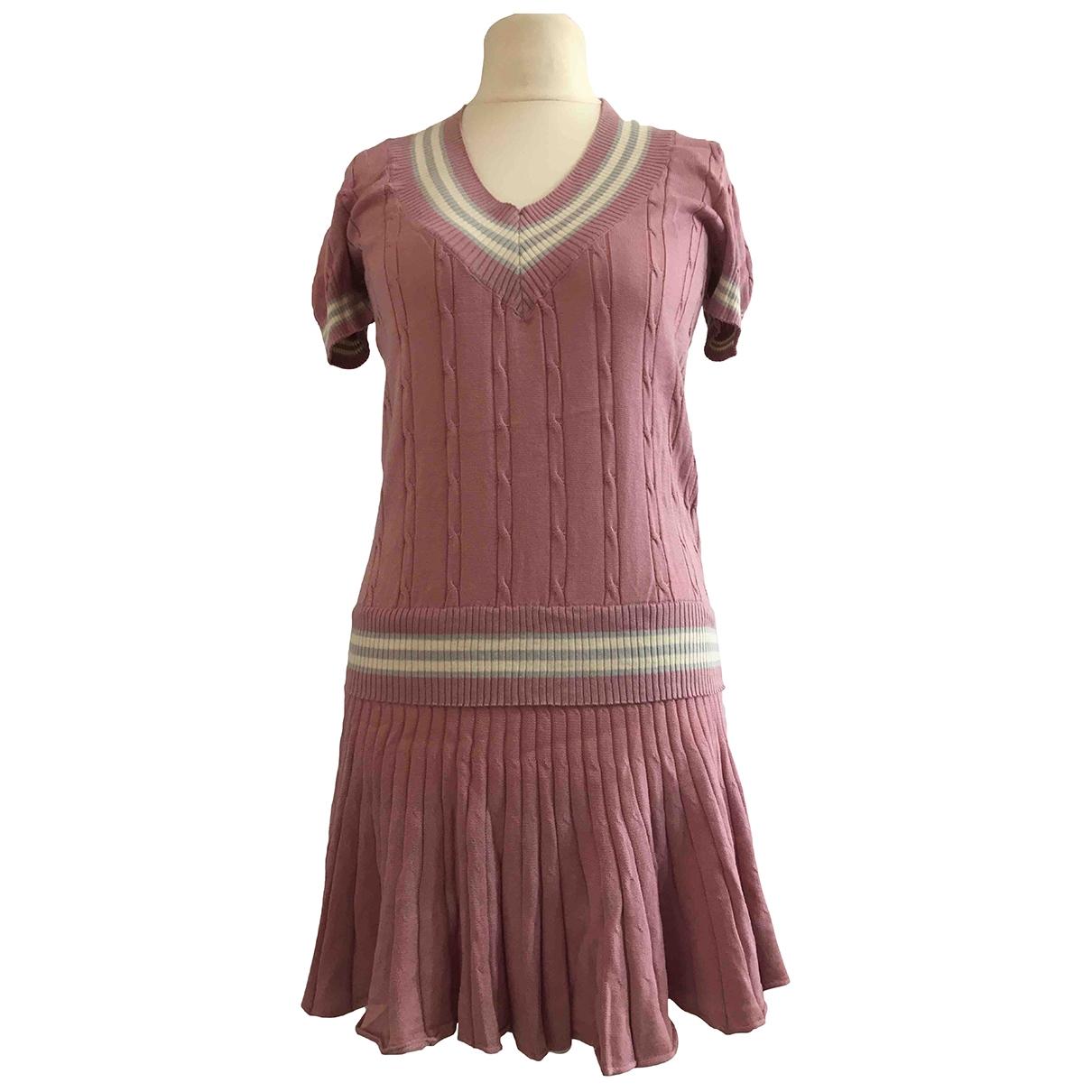 Mcq \N Kleid in  Rosa Baumwolle