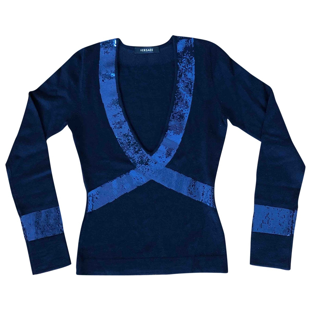 Versace \N Blue Wool Knitwear for Women 40 IT