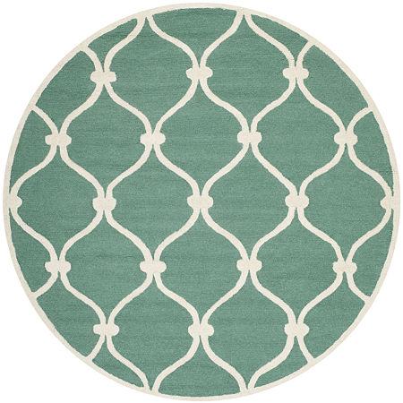 Safavieh Bois Geometric Hand-Tufted Wool Rug, One Size , Green