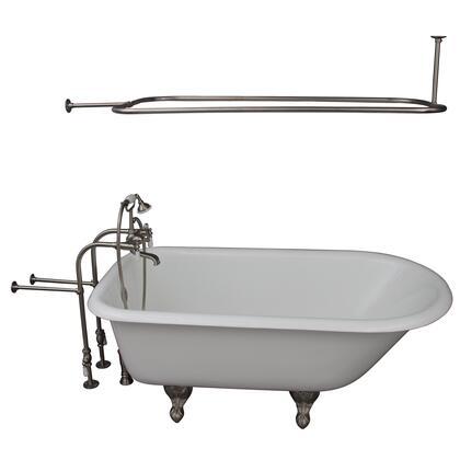 TKCTRN67-SN3 Tub Kit 67 CI Roll Top  Shower Rd  Filler  Supplies  Drain-Brush