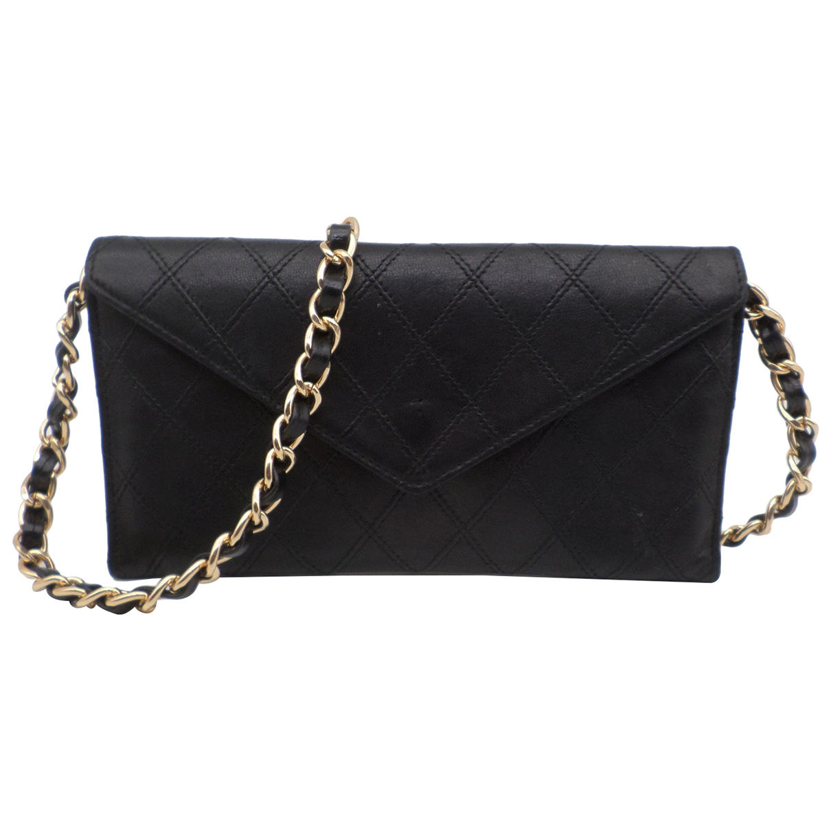 Chanel - Sac a main Wallet on Chain pour femme en cuir - noir
