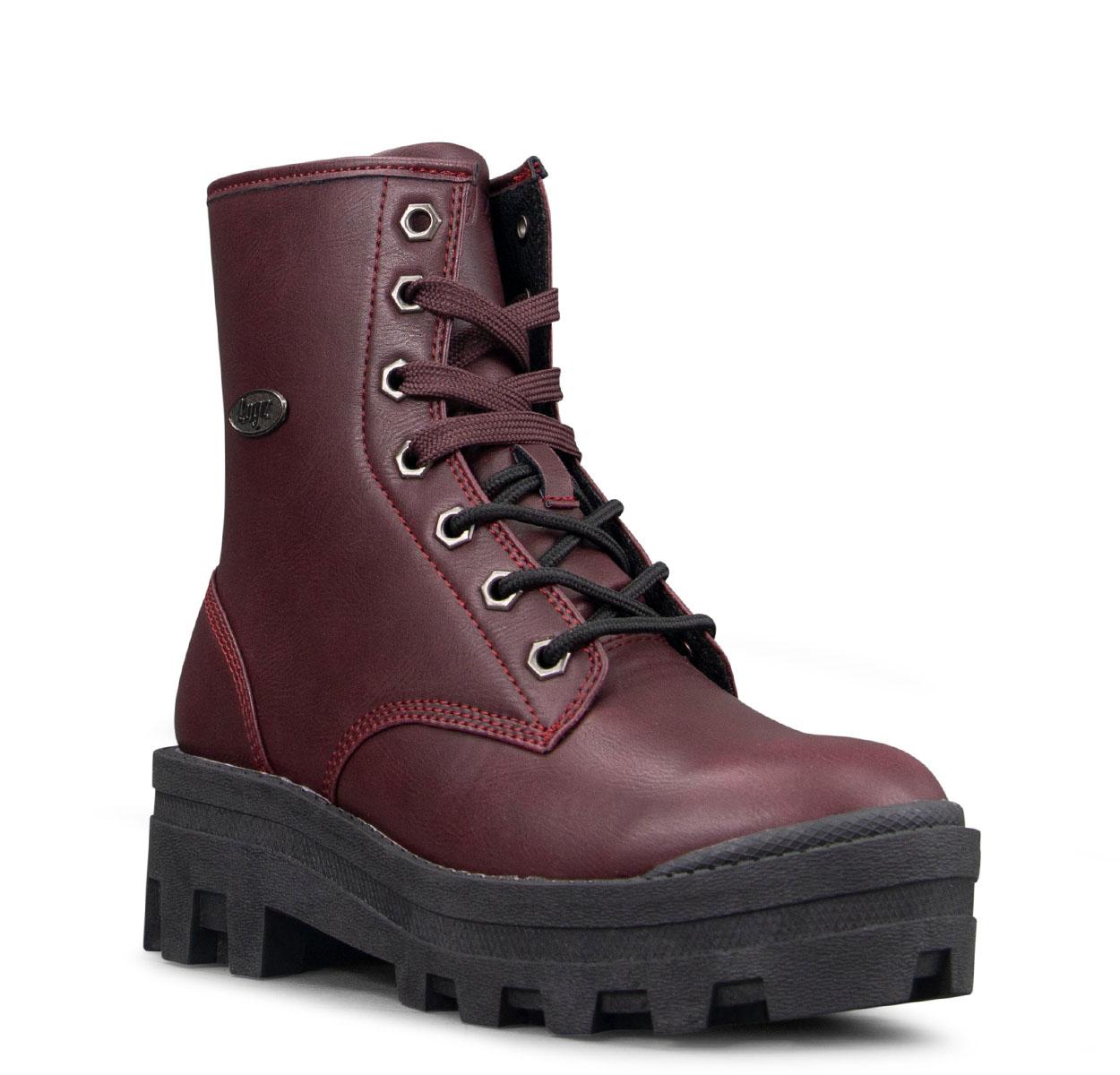 Women's Dutch 6-Inch Boot (Choose Your Color: WINE/BLACK, Choose Your Size: 9.0)