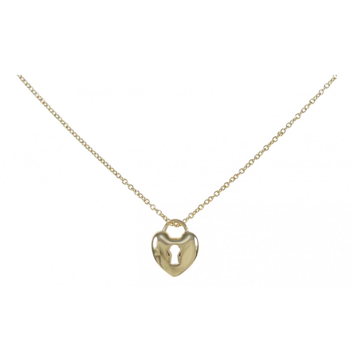 Tiffany & Co - Collier   pour femme en or jaune - argente