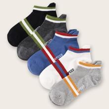 5 pares calcetines de hombres de rayas