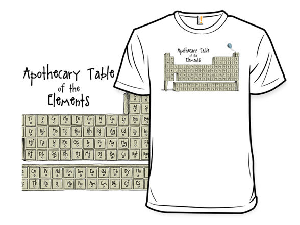 Apothecary Table Of The Elements T Shirt
