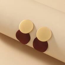 Zweifarbige runde Ohrringe