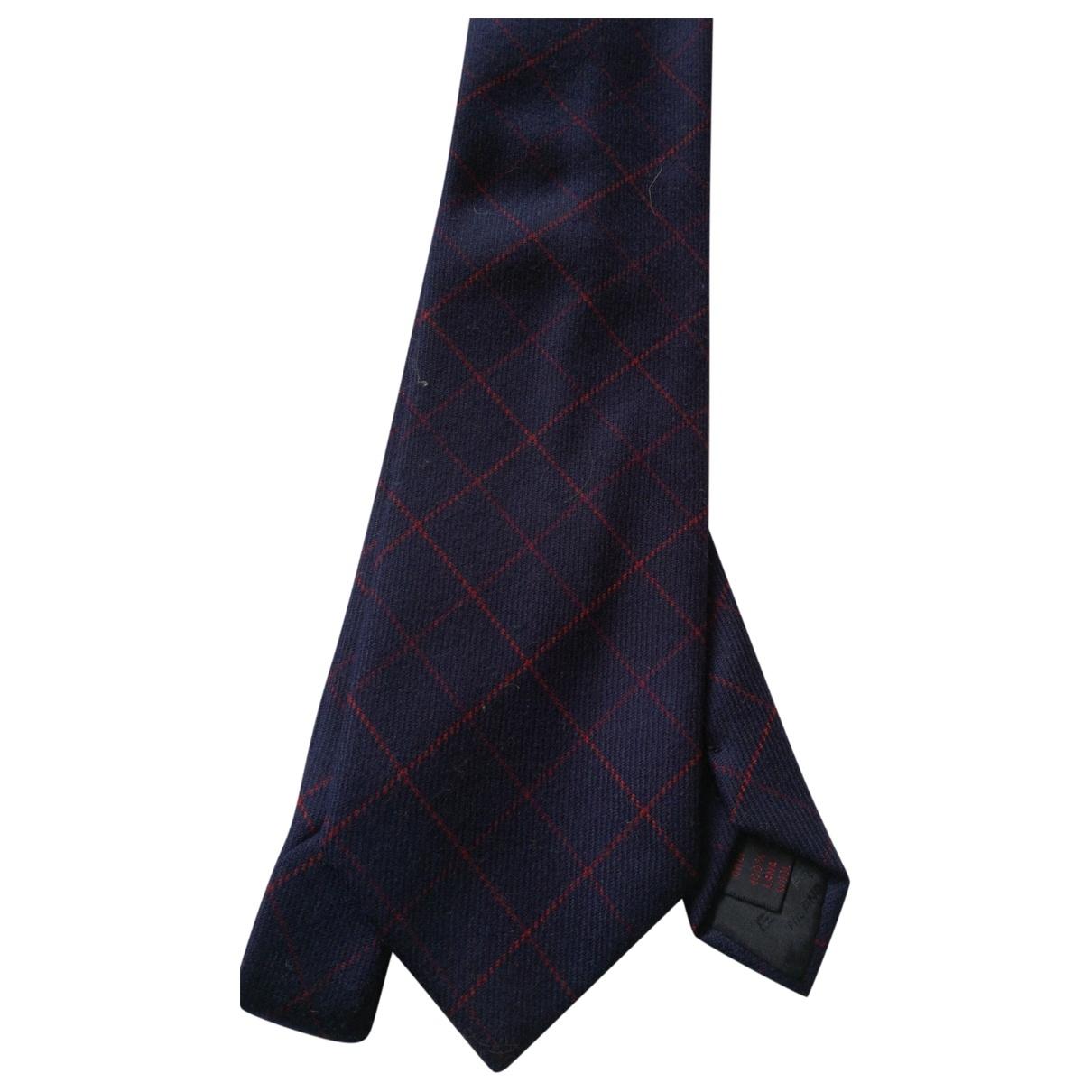 Etro \N Navy Wool Ties for Men \N