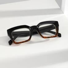 Maenner Brille mit quadratischem Rahmen