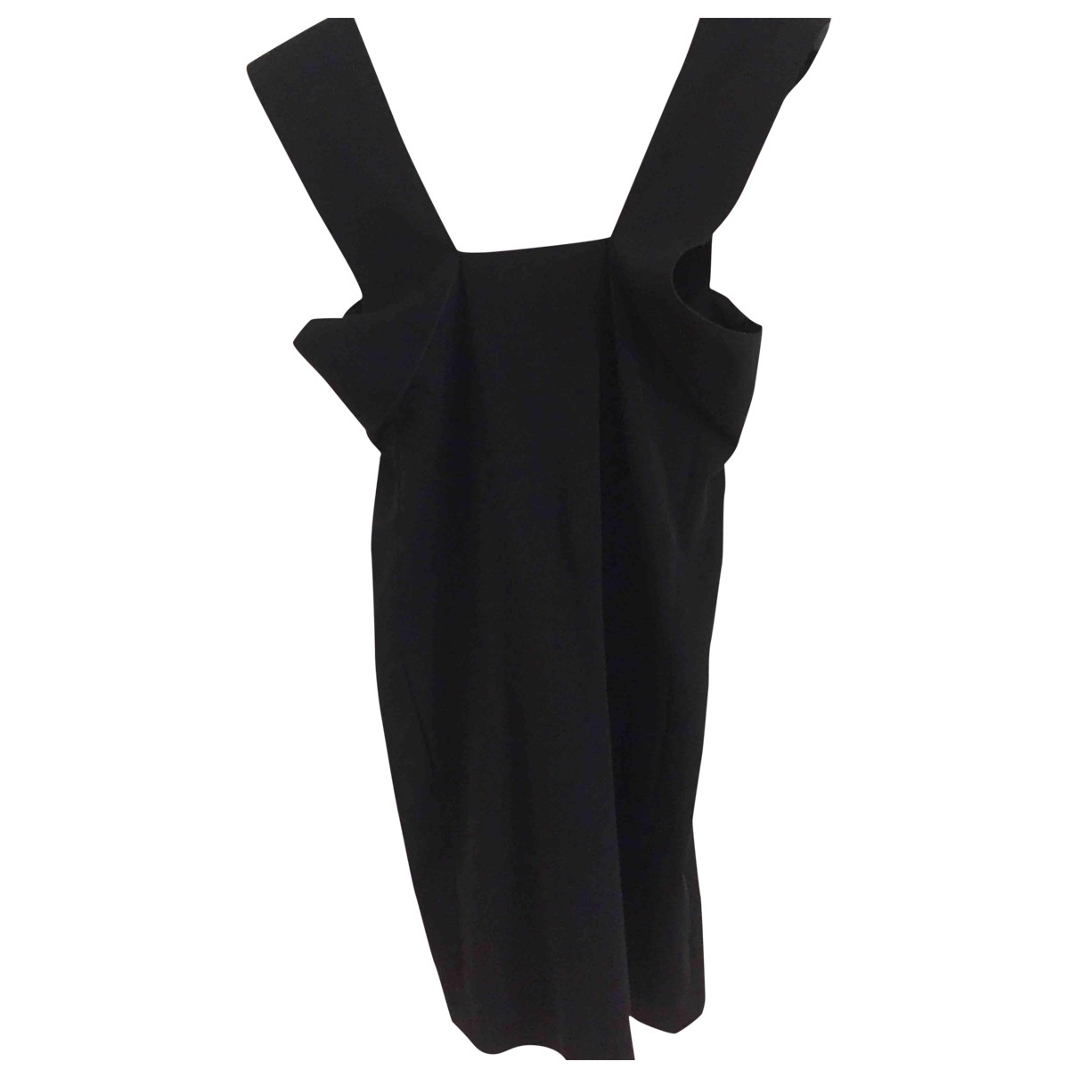 Roland Mouret \N Black Cotton - elasthane dress for Women 36 FR