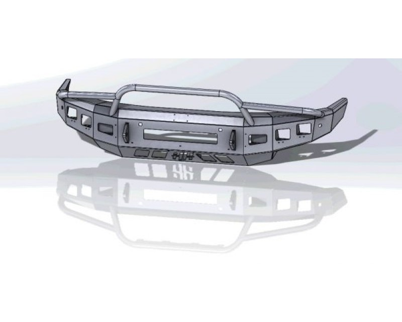 Hammerhead Armor 600-56-0833 Titan XD Front Winch Bumper Low Profile Prerunner For 16-20 Titan XD Black Steel