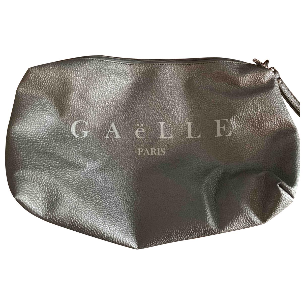 Gaelle Paris - Pochette   pour femme en cuir - argente