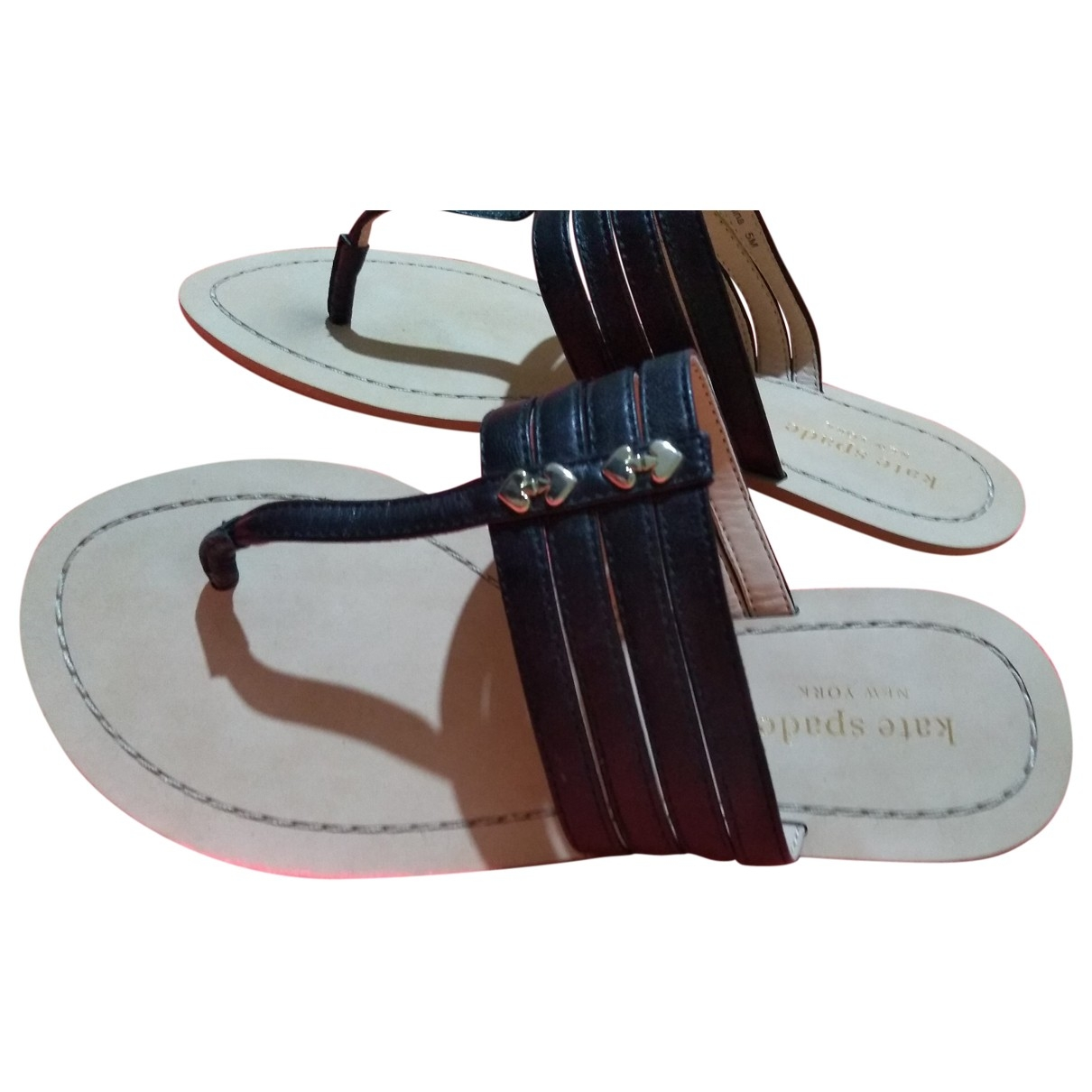 Kate Spade \N Beige Leather Sandals for Women 5 US