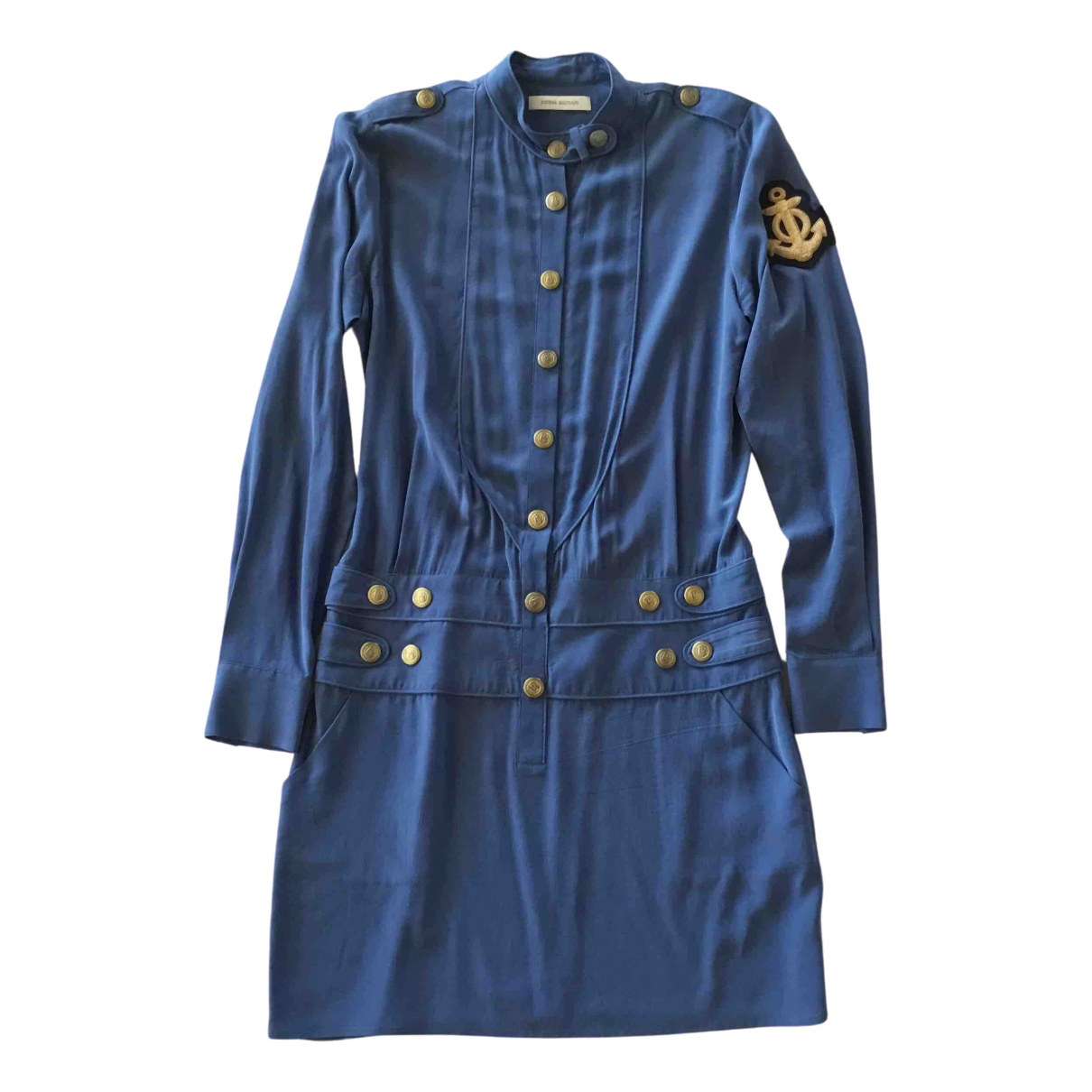 Pierre Balmain N Blue Silk dress for Women 40 FR