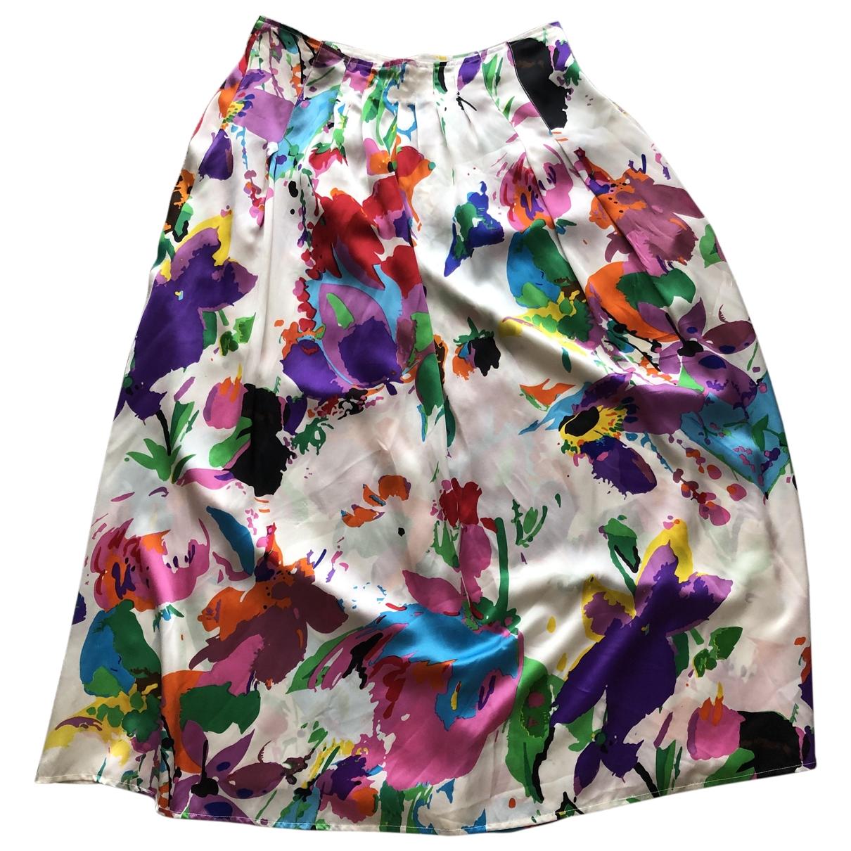 Non Signé / Unsigned \N Multicolour Silk skirt for Women 42 FR