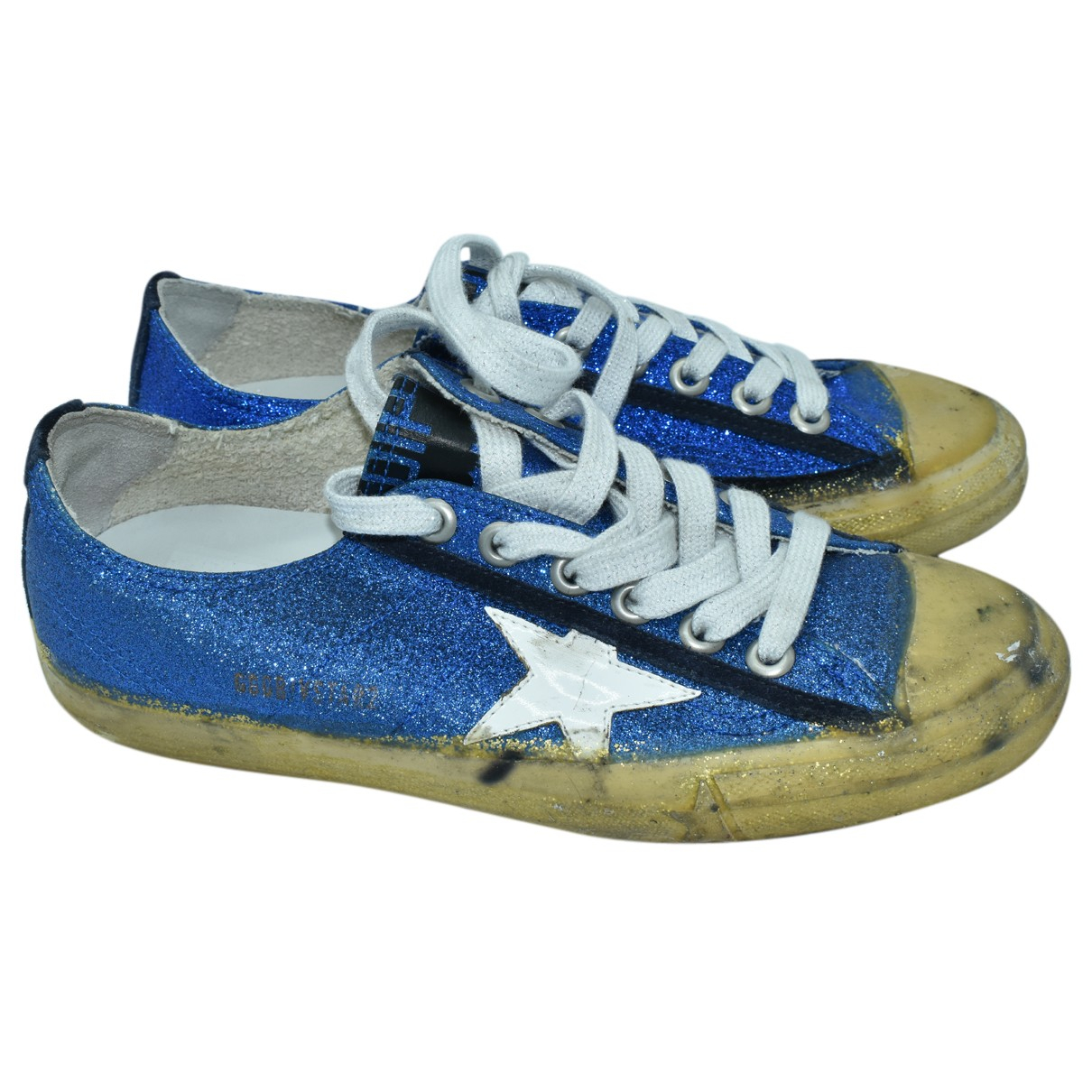 Golden Goose \N Sneakers in  Blau Mit Pailletten