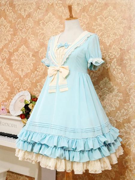 Milanoo Sweet Lolita Dress The Sails Of The Rhine Op Lolita One Piece Dress