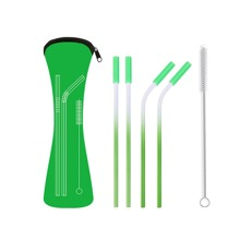 4pcs Straw & 1pc Cleaning Brush & 1pc Storage Bag