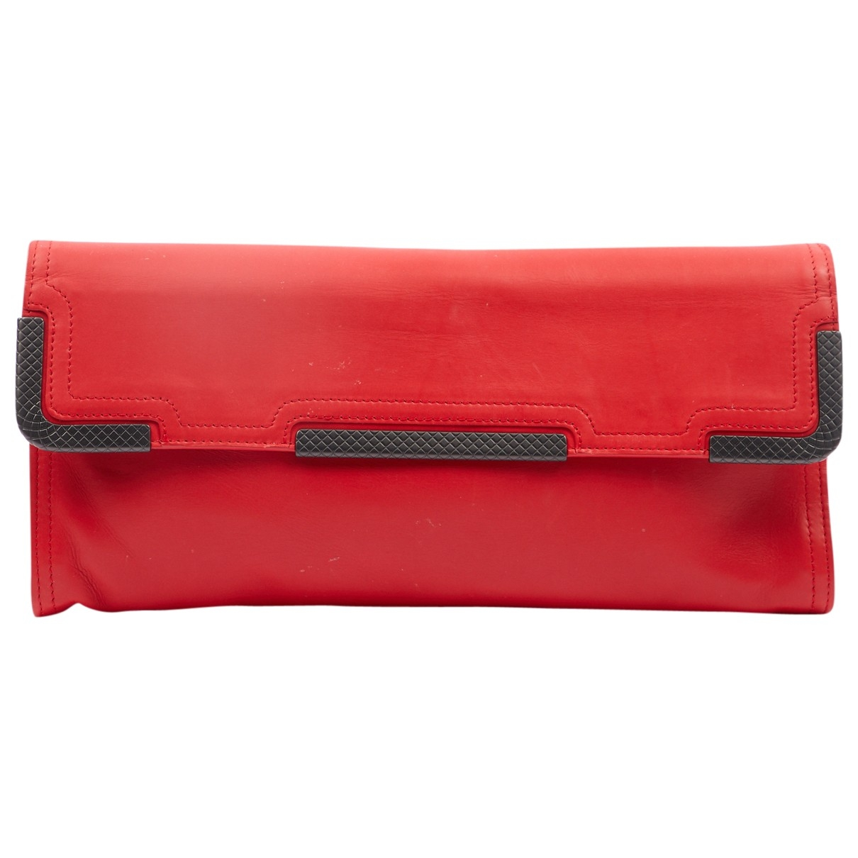 Bottega Veneta \N Clutch in  Rot Leder