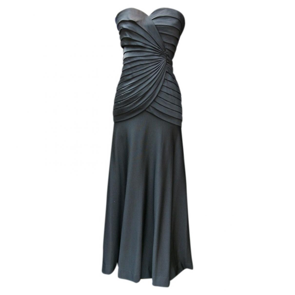 Loris Azzaro \N Kleid in  Schwarz Seide