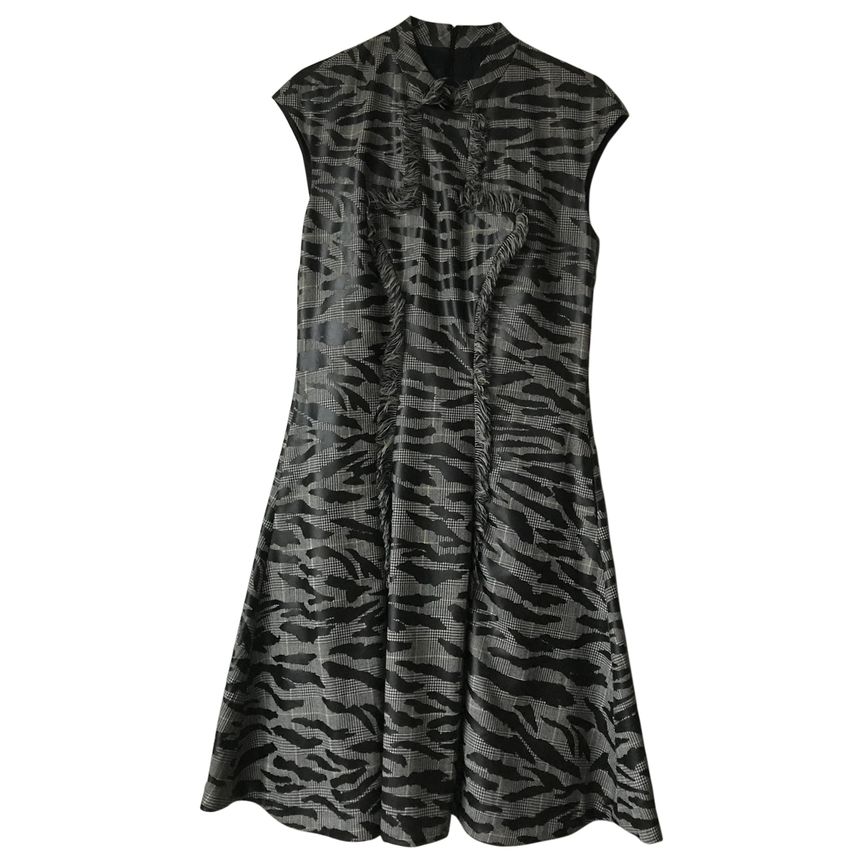 Alexander Mcqueen \N Grey Wool dress for Women 40 IT