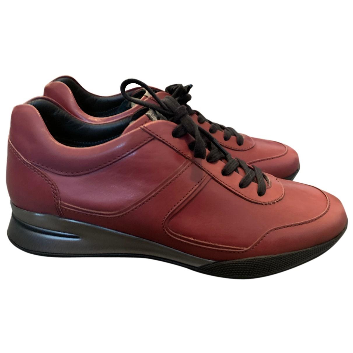 Tods \N Sneakers in  Bordeauxrot Leder