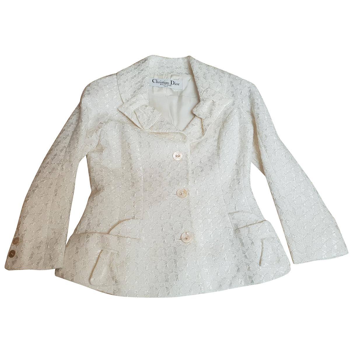 Dior - Veste   pour femme - blanc