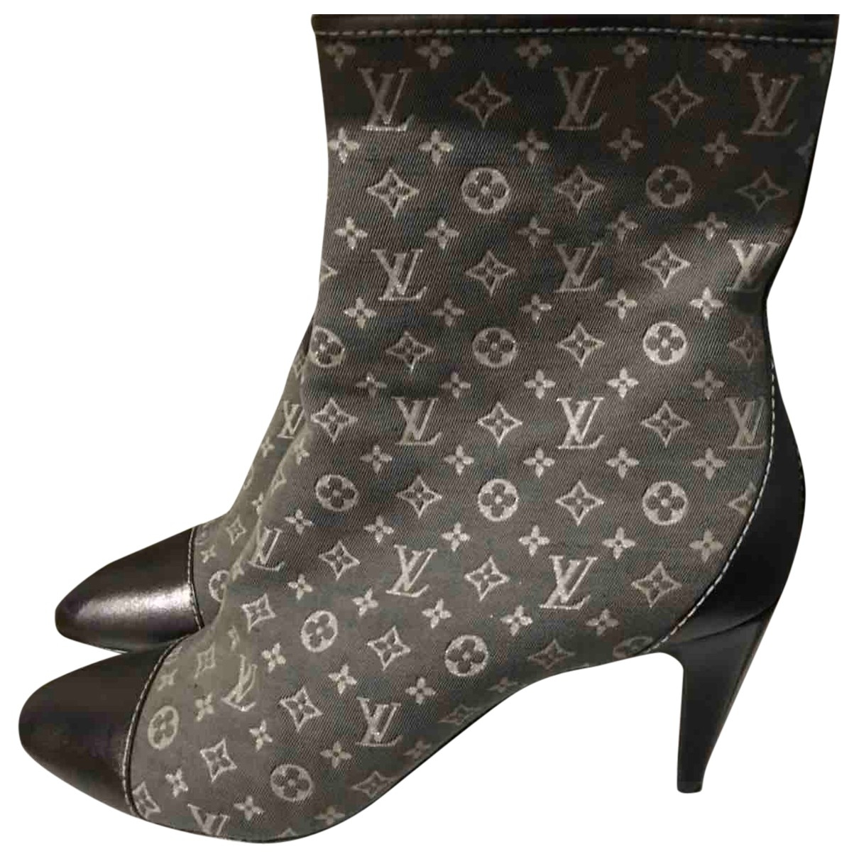 Louis Vuitton \N Grey Cloth Ankle boots for Women 39 IT