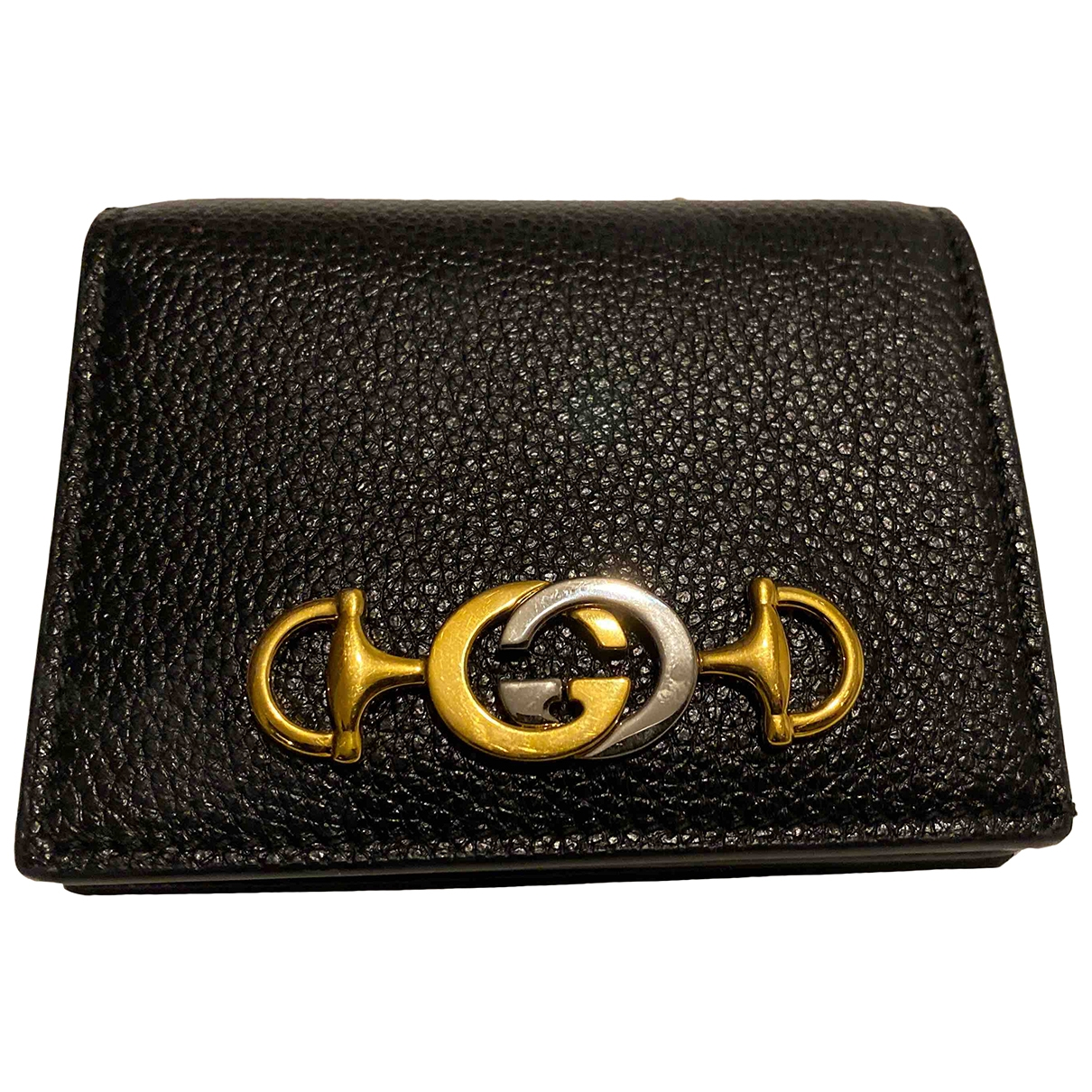 Gucci \N Black Leather Purses, wallet & cases for Women \N