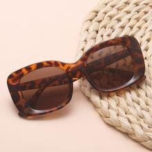 Acrylic Square Frame Sunglasses