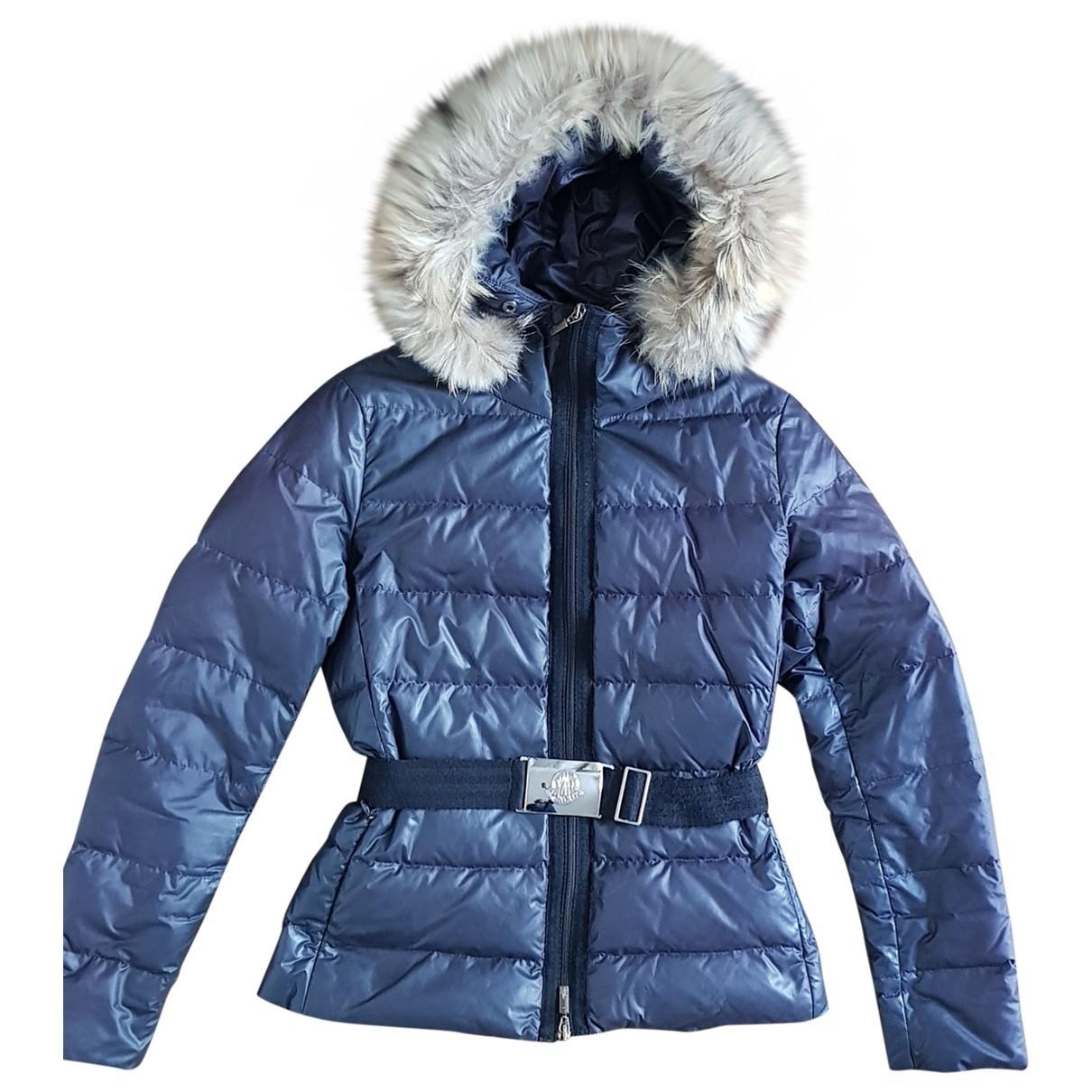 Moncler Fur Hood Black coat for Women 0 0-5