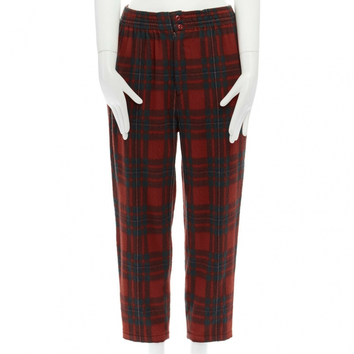 Comme Des Garcons \N Red Wool Trousers for Women S International