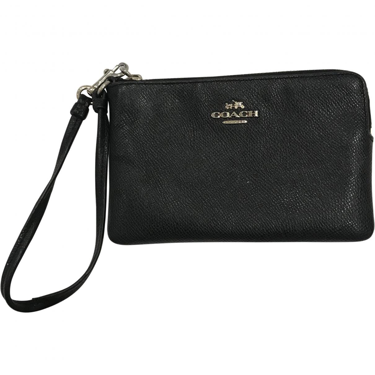 Coach \N Black Leather Clutch bag for Women \N