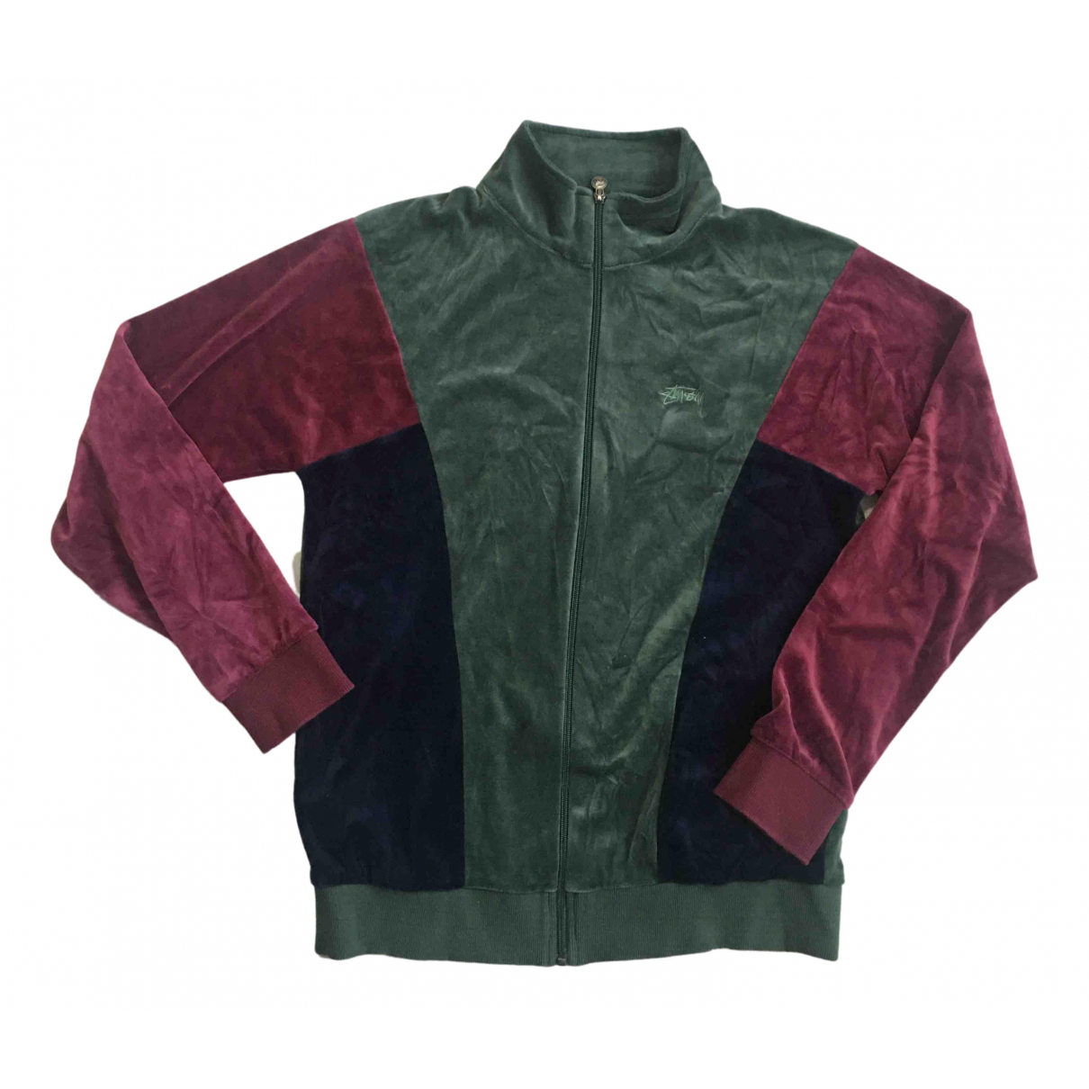 Stussy \N Pullover.Westen.Sweatshirts  in  Gruen Baumwolle