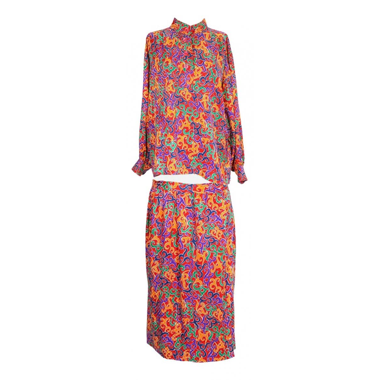 Yves Saint Laurent - Robe   pour femme en soie - multicolore
