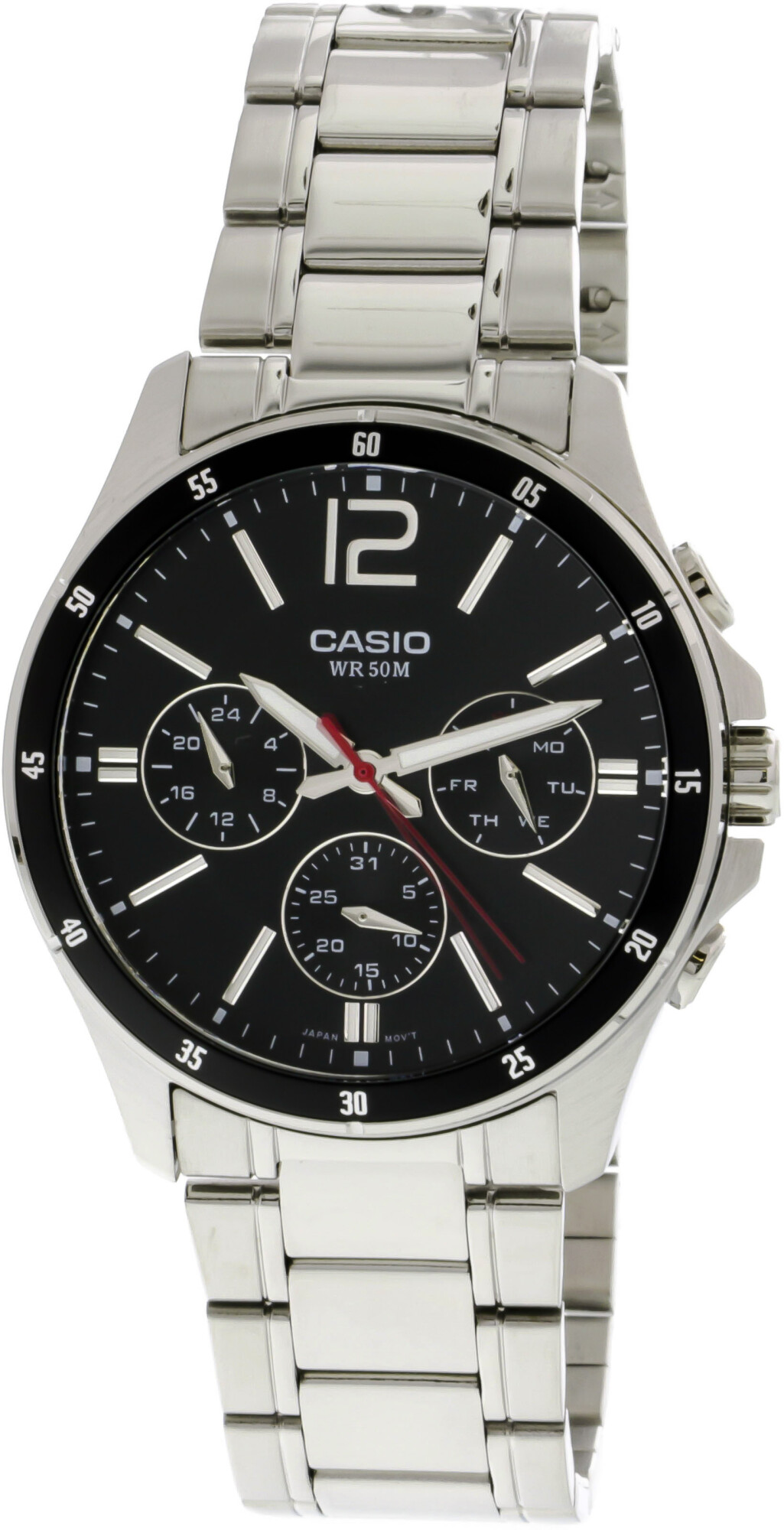 Casio Men's Core MTP1374D-1AV Silver Metal Japanese Quartz Fashion Watch
