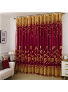 Luxurious and Elegant Burnout and Embroidered Floral Blackout Curtains