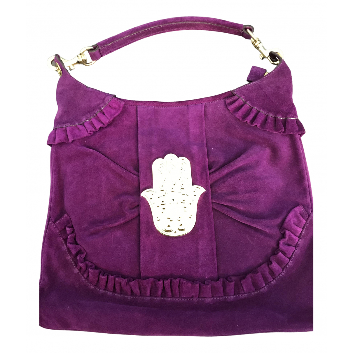 Manoush \N Handtasche in  Lila Leder