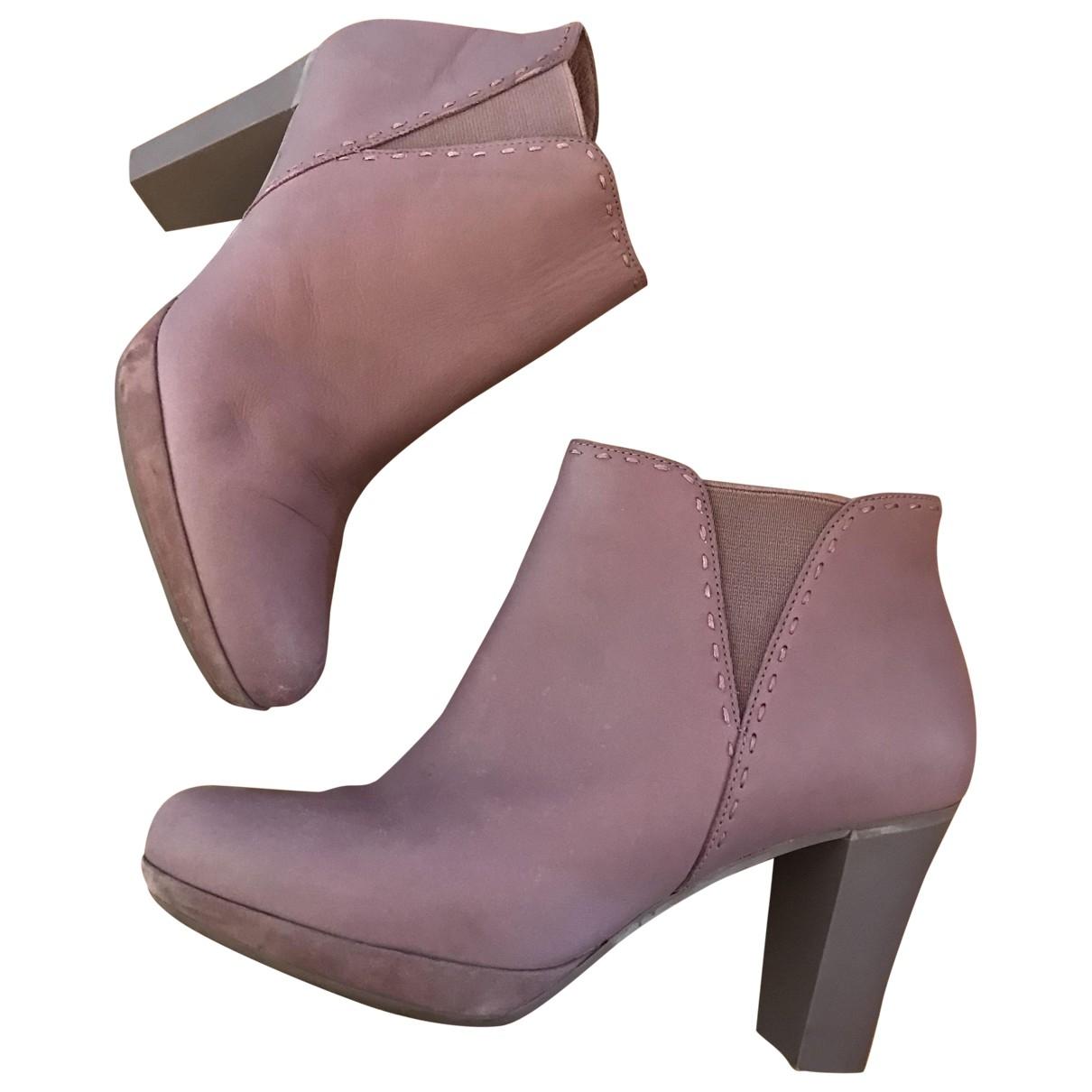 Camper - Boots   pour femme en cuir - violet