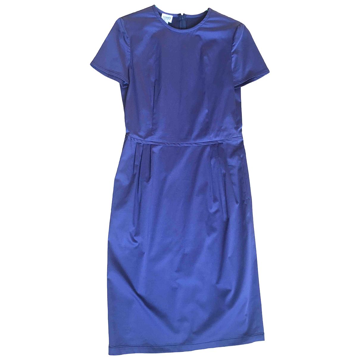 Armani Collezioni - Robe   pour femme en coton - elasthane - bleu