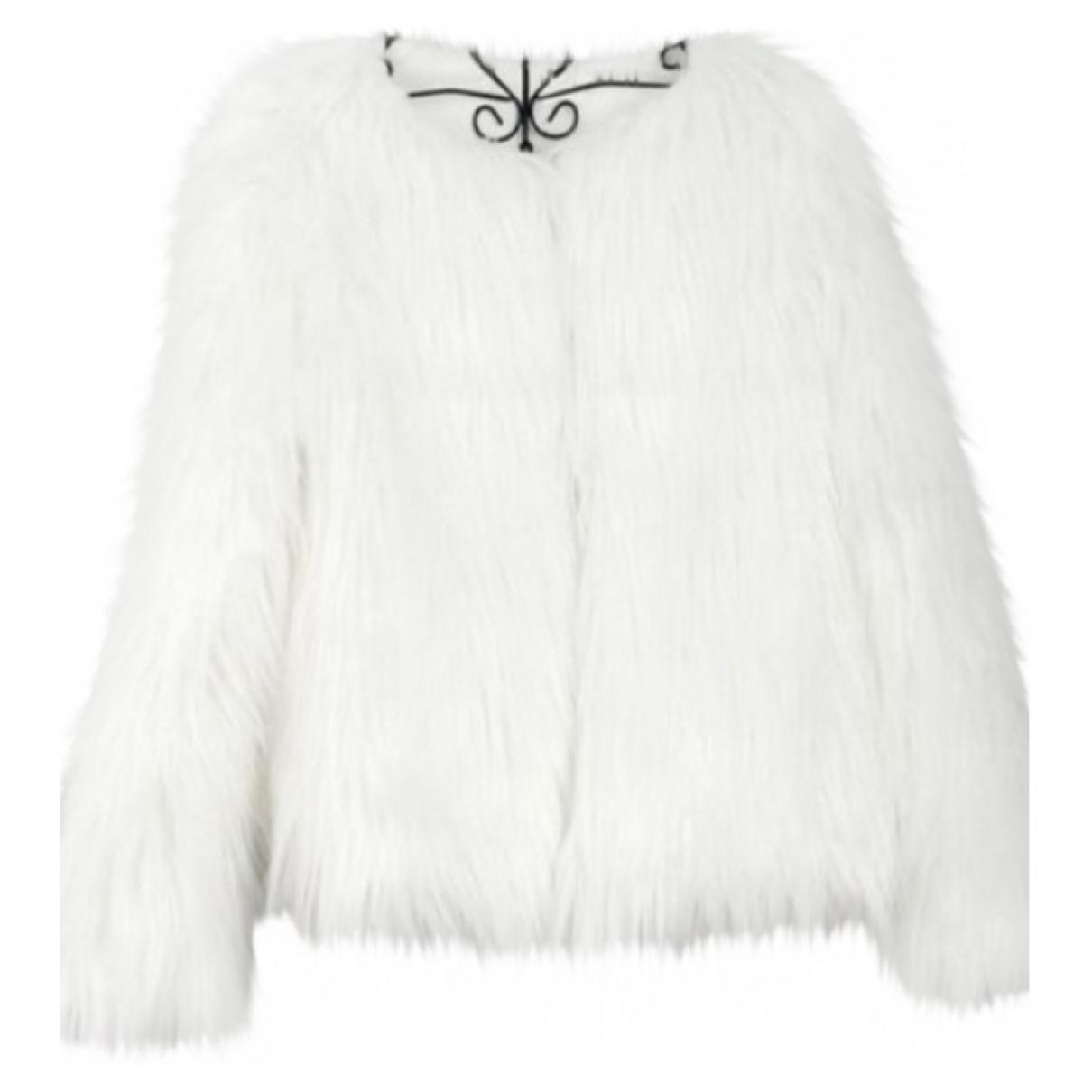 Zara \N Ecru Faux fur jacket for Women M International