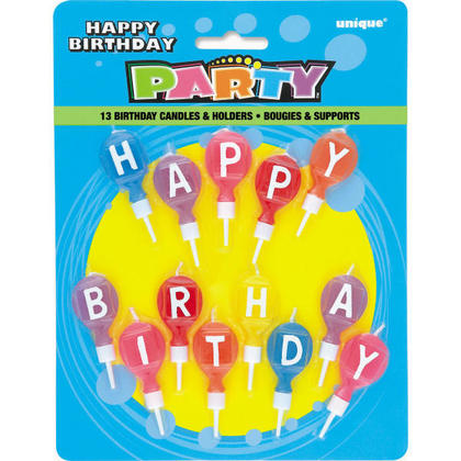 Birthday Picks Candle Round Letter