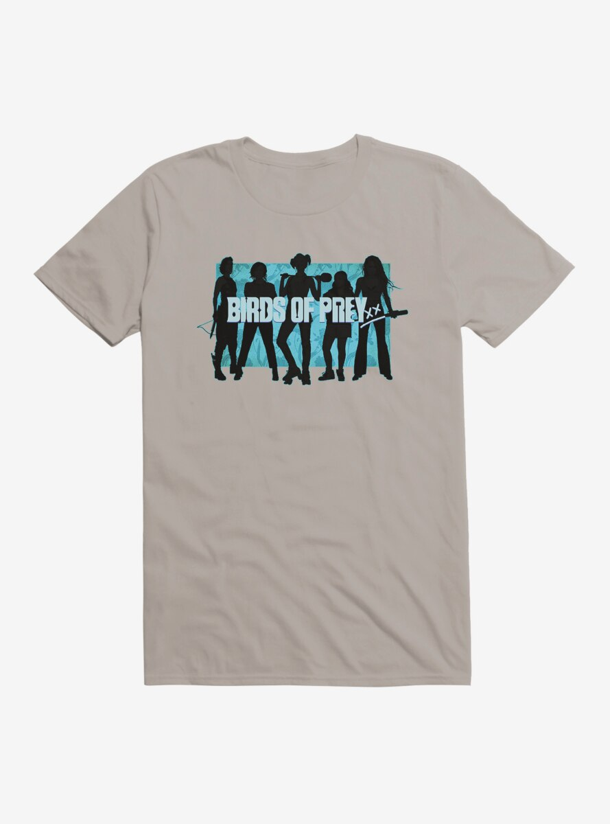 DC Comics Birds Of Prey Harley Quinn And Her Crew Outlined T-Shirt